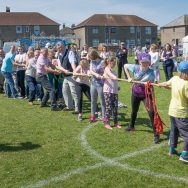 Tug of War at the WW1 themed Fun Day, 2016