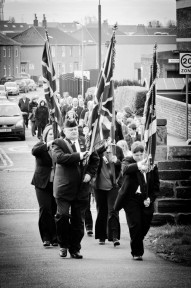 Villagers Parade to Crosshouse War Memorial
