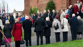 Villagers Gather at Crosshouse War Memorial
